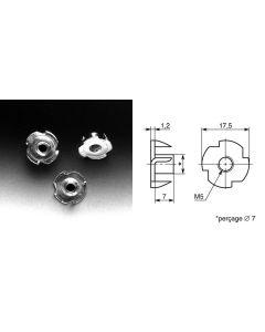 Ecrou à frapper diamètre 5mm EG5