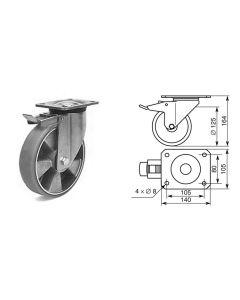Roulette pivotante diamètre 125mm 1375