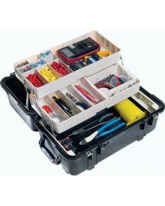Valise Pelicase 1460 noire, avec kit Mobile Tool Chest.