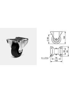 Roulette fixe diamètre 80mm 1315