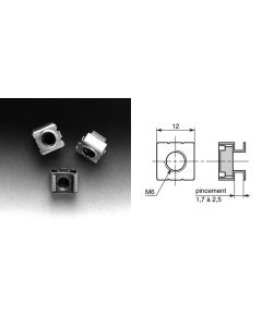 Ecrou-cage diamètre 6mm V60