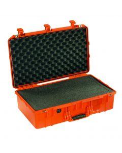 Valise Peli Air 1555 orange, avec mousse prédécoupée