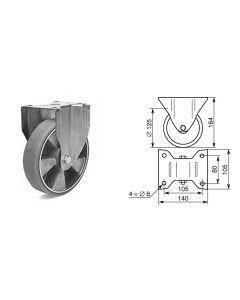 Roulette fixe diamètre 125mm 1376