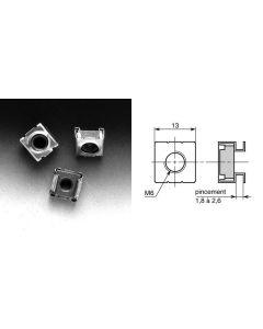 Ecrou-cage diamètre 6mm V62