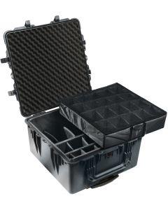 Valise Peli 1640 noire,  avec kit de cloisons