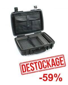 Valise Peli-Storm 2300 noire avec aménagement pour portable