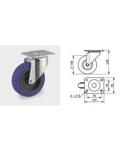 Roulette pivotante diamètre 100mm 1367
