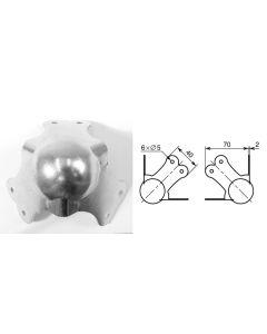 Coin à boule 70mm 9599