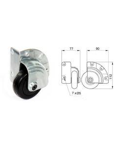 Roulette d'angle diamètre 75mm 1338