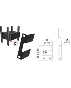 Support arrière pour tiroirs 19'' 9P1052 à 9P1059