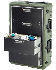Caisse militaire médicale 4 tiroirs Medchest