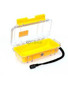 Microcase 1030 jaune, avec couvercle transparent