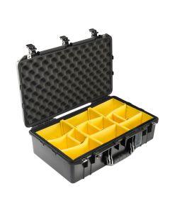 Valise Peli Air 1555 noire, avec kit de cloisons