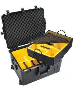 Valise Peli Air 1637 noire, avec kit de cloisons velcro
