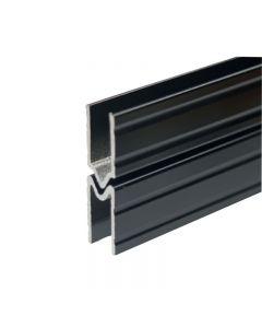 Profilé d'emboîtement mâle 10,2mm noir